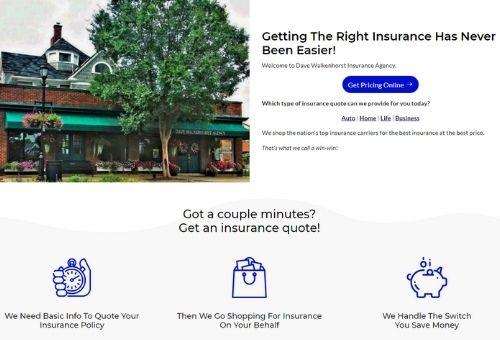 Designed Insurance Website