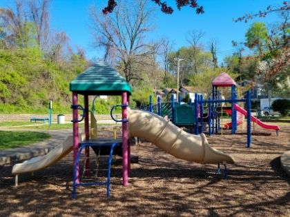 A children's playground in a public park
