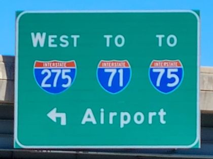 The highway exit to Interstate 275
