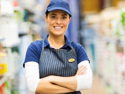A employee in a retail store